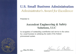 2010 U.S. SBA Award for Excellence